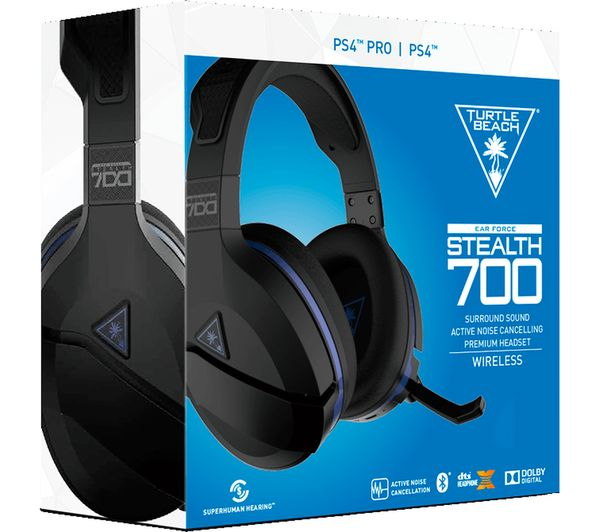 3rood Express Turtle 700 Beach Force Stealth Ps4 Wireless Headphone Black Blue